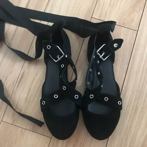 Suede Lace Up Rebecca Minkoff Flats